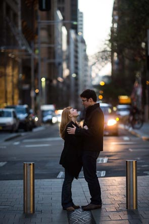 Lachlan and Kirstens pre-wedding photos in Sydney
